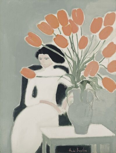 Andre Brasilier, 'Chantal aux tulipes ', 1972