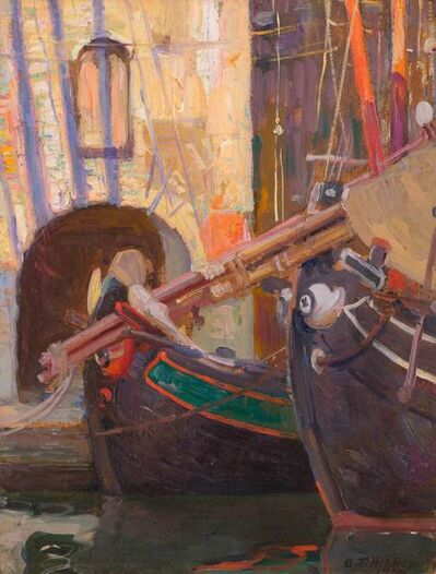 Aldro Thompson Hibbard, 'Italian Boats and Archway', 1914