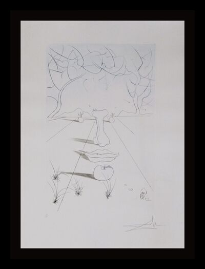 Salvador Dalí, 'Aurelia Visage Surrealiste', 1972