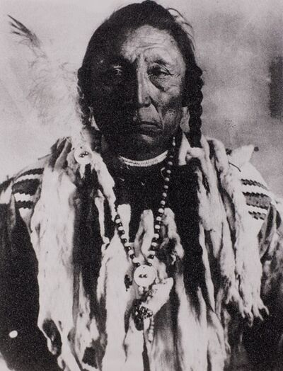 Russell Young, 'Siksika Chief Curley Bear, Black & White', 2010