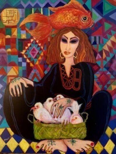 Laila Shawa, 'Pigeon seller', 2019