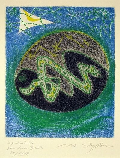 André Masson, 'Blue Serpent', 1957