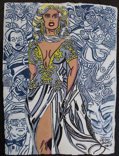 "Erró, 'aquagravure on heavy handmade paper,"" La Mariée"" original artwork signed by the artist', 2017"