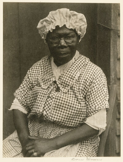 Doris Ulmann, 'Black Woman in Cap and Gingham Dress', 1929-1930