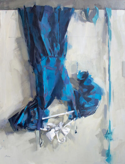 Maggie Siner, 'Blue Dress over Door', 2006