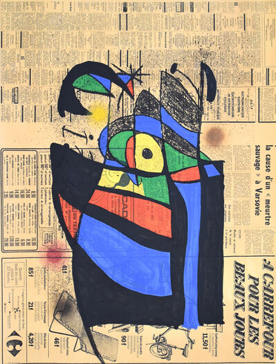 Joan Miró, 'The Newspaper | Le Journal', 1972