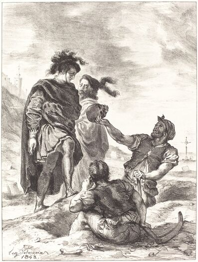 Eugène Delacroix, 'Hamlet and Horatio before the Gravediggers (Act V, Scene I)', 1843