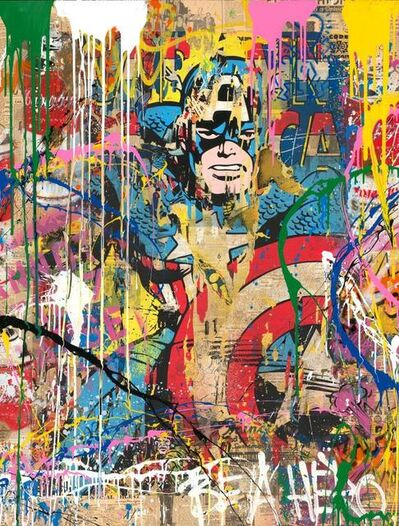 Mr. Brainwash, 'CAPTAIN AMERICA ', 2018