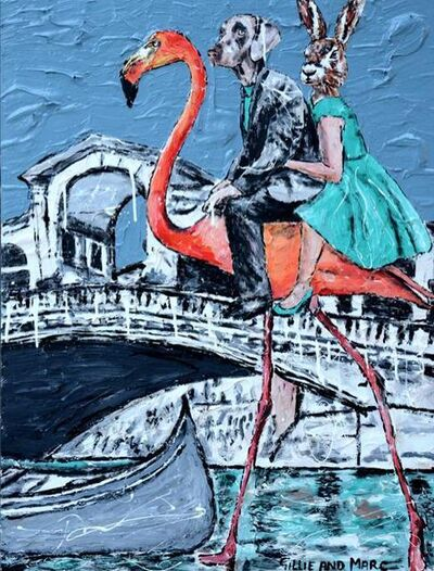 Gillie and Marc Schattner, ' She decided it was faster by flamingo than a gondola'