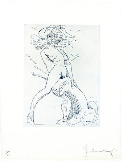 Claes Oldenburg, 'Figure and Phallus I (indigo blue)', 1975