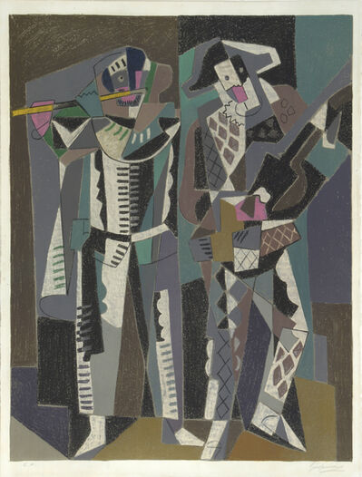 Gino Severini, 'La Commedia del Arte. Traditional Performers', 1958