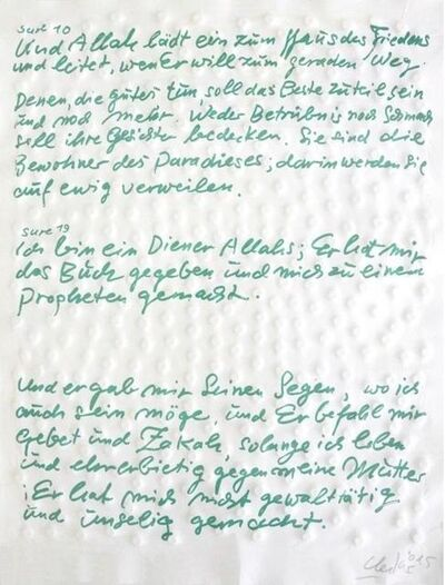 Günther Uecker, 'Friedensgebote, Blatt 8', 2015