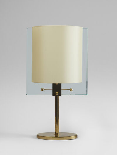Fontana Arte, 'A glass and brass table lamp', ca. 1960