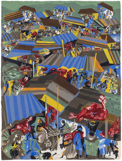 Jacob Lawrence, 'Meat Market', 1964