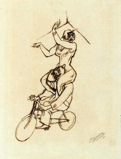 George Grosz, 'Akrobaten', ca. 1916