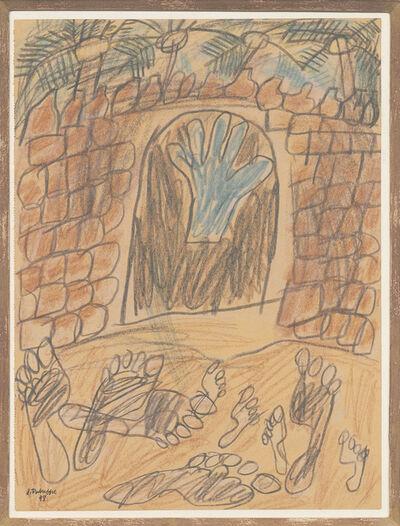 Jean Dubuffet, 'Porte de l'oasis avec traces de pas dans le sable', 1948