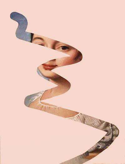 Lino Lago, 'Fake Abstract Pink V, on Ingres', 2018