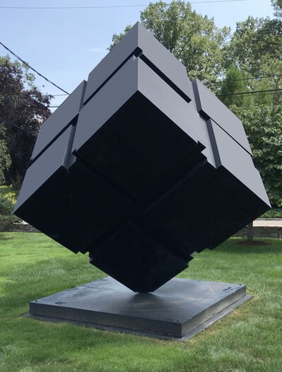 Tony Rosenthal, 'Kinetic Rotating Spinning Outdoor Monumental Minimal Black Cube', 1999