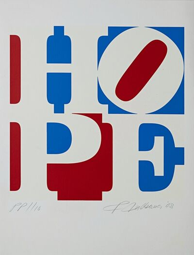 Robert Indiana, 'HOPE (from Artists for Obama)', 2008