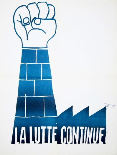 Anonymous, 'May '68 Poster  La Lutte continue (The Struggle Continues)', 1968