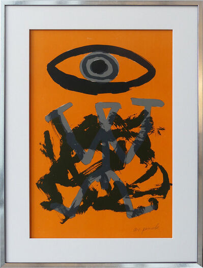 A.R. Penck, 'Standart Variation Schwarz-Orange', 1994