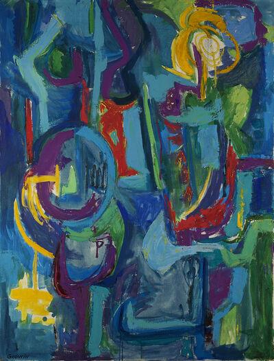 Judith Godwin, 'Blue Figures', 1954