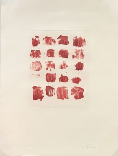 Pat Steir, 'Little red shapes', 1991