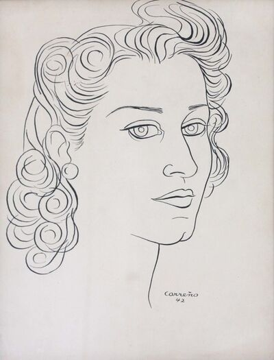 Mario Carreño, 'Portrait of Lydia de Rivera', 1942