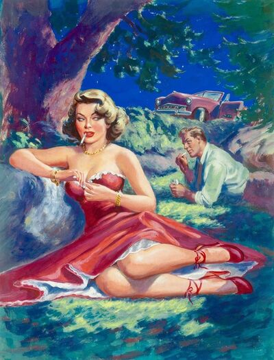 Rudy Nappi, 'The Men She Knew, Paperback Cover', 1951
