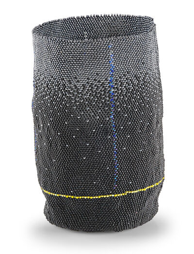 Jeannine Anderson, 'Untitled vessel (Black, Silver, Gold), USA', Late 20th/early 21st C.