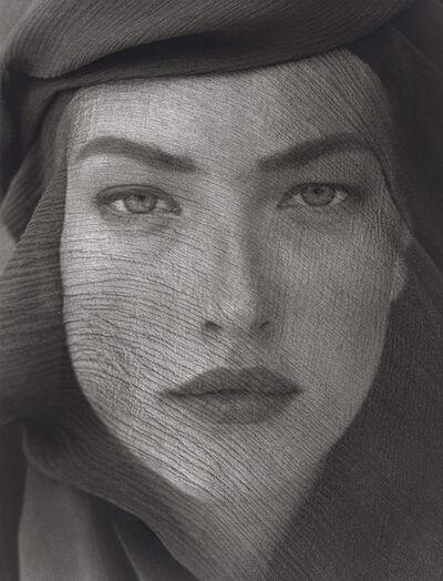 Herb Ritts, 'Tatjana Veiled Head, Tight View, Joshua Tree', 1988