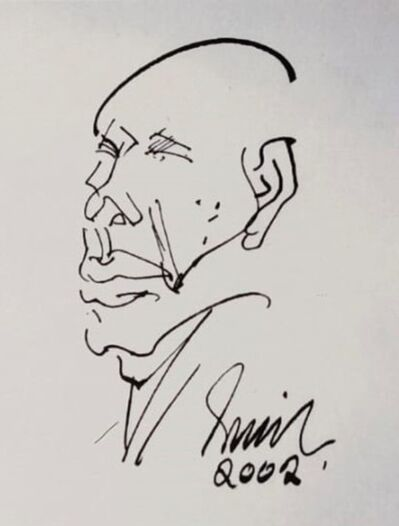 "Sunil Das, 'Head, Ink on Paper by Modern Indian Artist ""In Stock""', 2002"