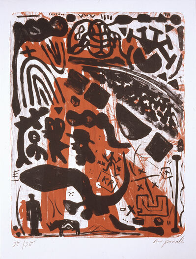 "A.R. Penck, 'Memorial for Joseph Beuys (from the portfolio ""For Joseph Beuys"")', 1986"