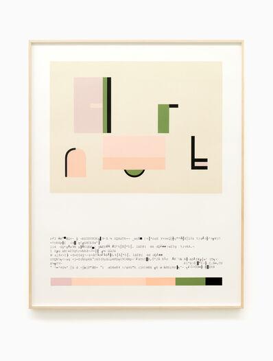 Almudena Lobera, 'Technical Sheet Palette ASCII II', 2019
