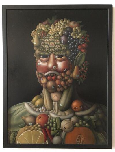 "Amy Hill, 'Tribute to Arcimboldo: ""Organic Fruit Head""'"