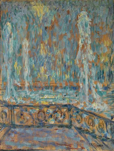 Henri Eugène Le Sidaner, 'Les jets d'eau, Versailles', 1922