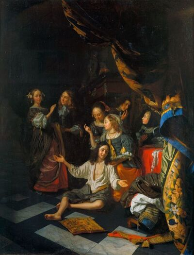 Godefridus Schalcken, 'The Game of 'Lady, Come into the Garden' ', ca. 1668-1670