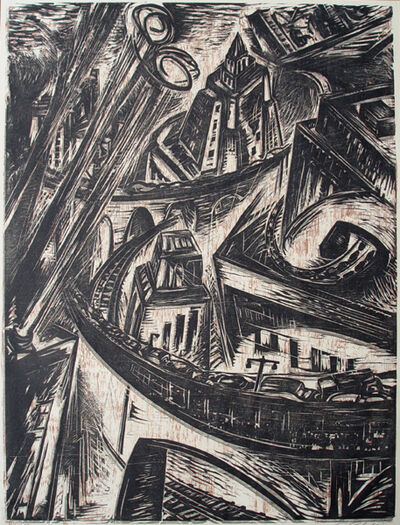 Letterio Calapai, 'The City', 1957