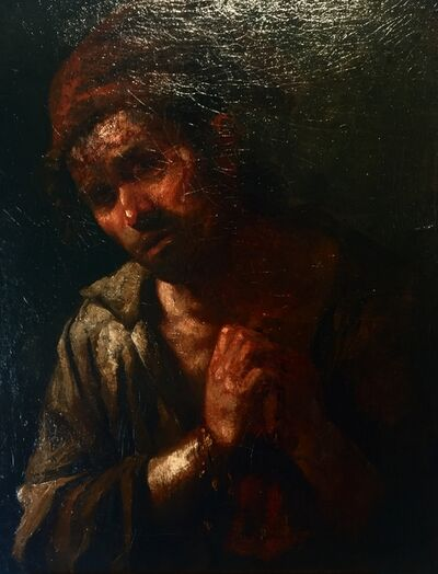 Workshop of Francisco de Goya, 'Peasant in prayer', Half XIX Cent.