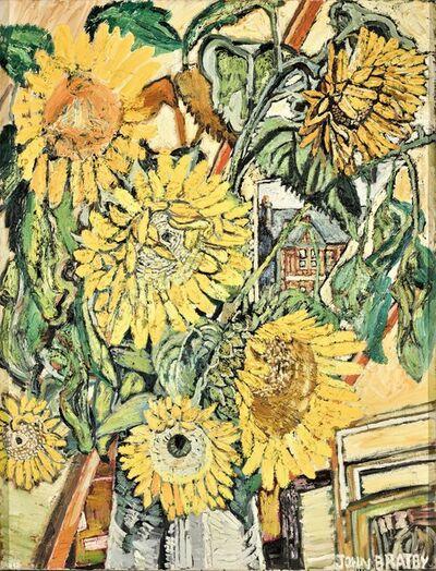 John Bratby, 'Sunflowers', 196768