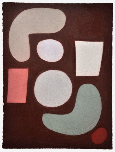 Julian Martin, 'Untitled (Forms on brown)', 2015