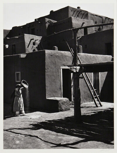 Ansel Adams, 'Winnowing Grain, Taos, Pueblo, NM', neg: 1929-print date: 1973