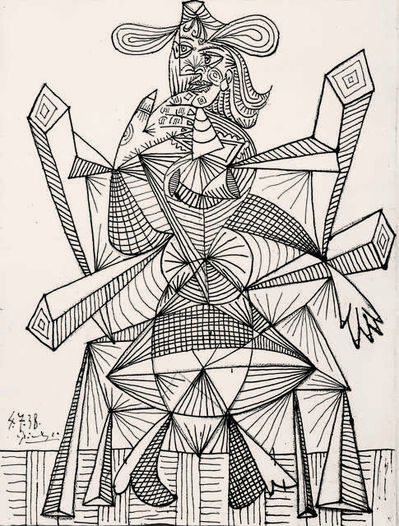 Pablo Picasso, 'Femme assise dans une chaise (Dora) (Woman Sitting in a Chair, Dora)', 1938