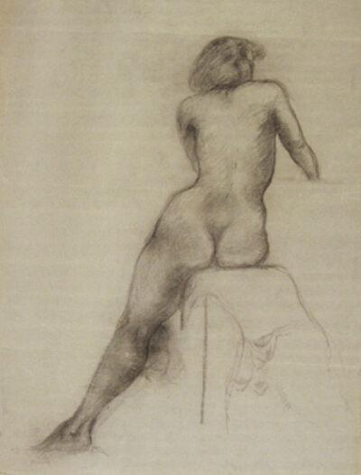 John Steuart Curry, 'Study of Seated Female Nude '