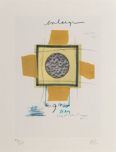Claes Oldenburg, 'Biscuit, Mounted, London, 1966, from Notes in Hand', 1972