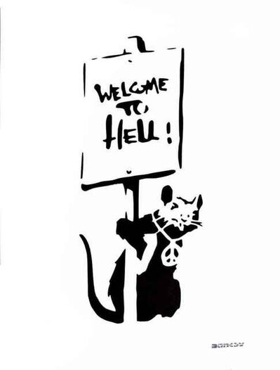 "Banksy, 'Banksy (After) ""Welcome to Hell""', Unknown"