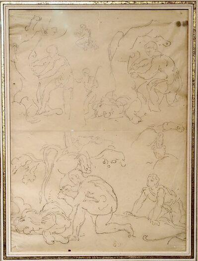 Eugène Delacroix, 'Hercules skinning the Nemean Lion ', ca. 1853