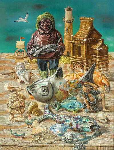 Aaron Bohrod, 'Fisherman', 1984