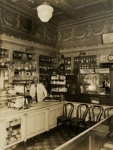 Berenice Abbott, 'Old Drug Store, Market St. Interior', 1931