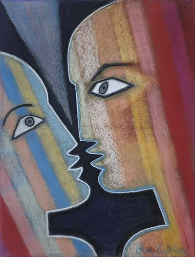 Jean Cocteau, 'Face to Face', ca. 1960